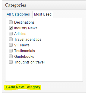 How to add a category, Part 1