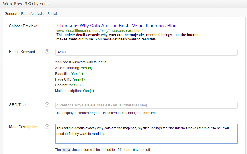 How to add a meta description