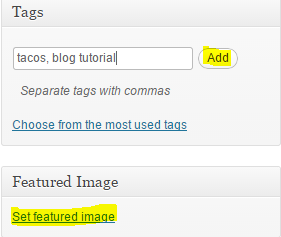 How to add tags
